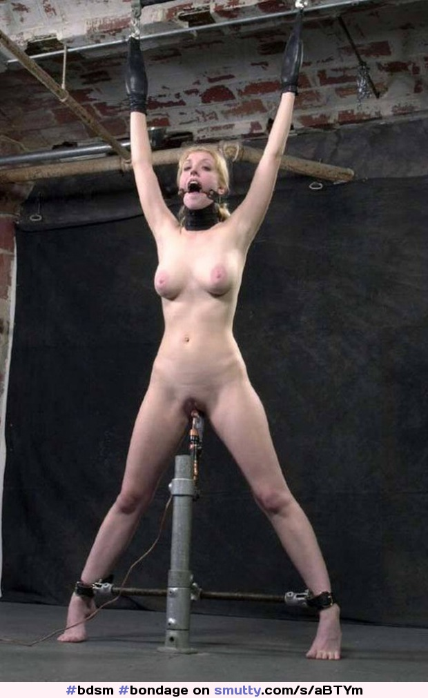 Bound Babe Impaled By A Dildo In A Cart, Lovely