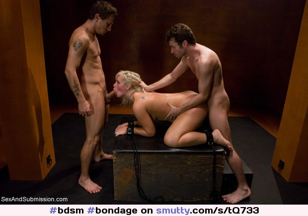 Mmf threesome bondage