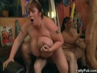 Big tits bbw orgy