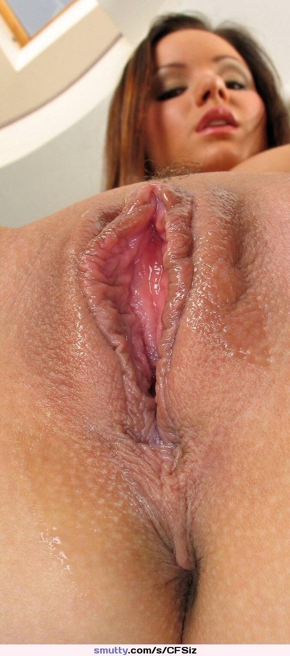 Wet pussy closeup