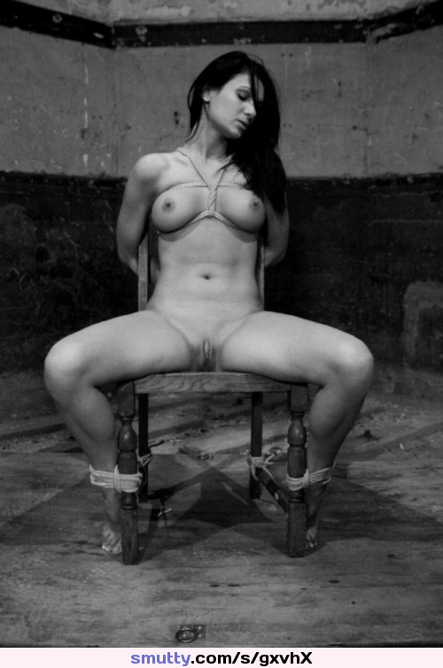 #tied #bondage #brunette #boobs #tits #pussy #tiedup #babe #hot #sexy #nipples #chair #ropes