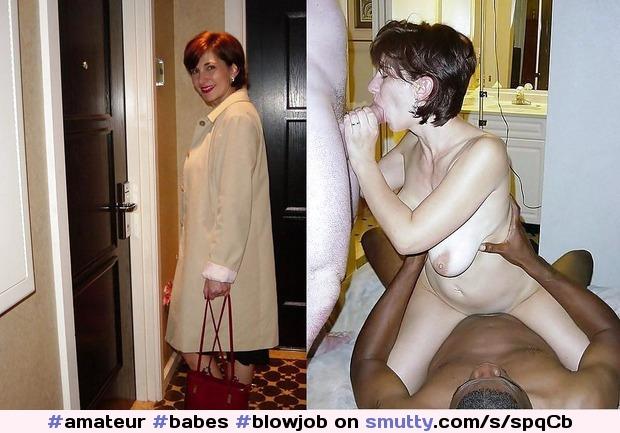 Mature amateur milf dressed undressed blowjob