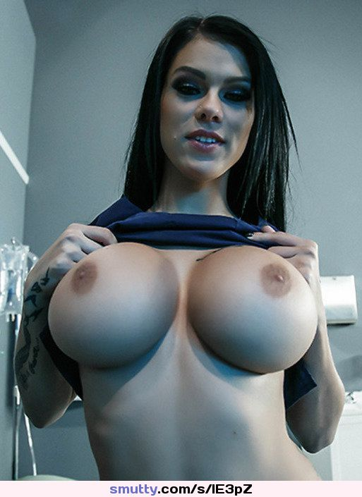 Big round fake boobs are so hot on this fuck slut