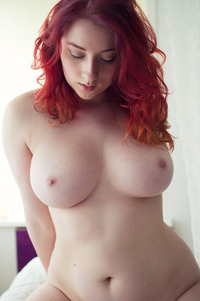 Redhead plus size models nude