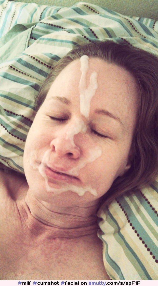 Mature amateur milf cum facial