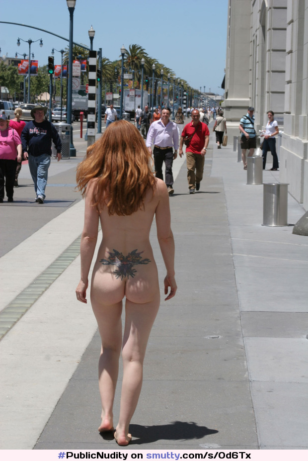 #PublicNudity #CasualNudity #outdoor #pale #redhead #ink