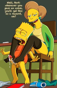 the simpson bart gives lisa footjob porn