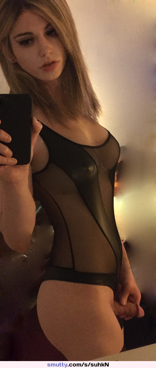 Amateur Blonde Tranny Makes A Homemade Video