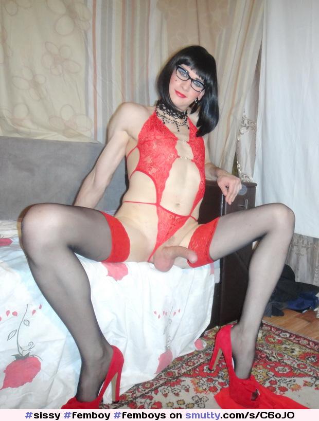 Dickforlily shemale lingerie monster dick