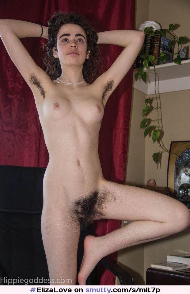 Hottie With Hairy Bush Fucks Her Slit