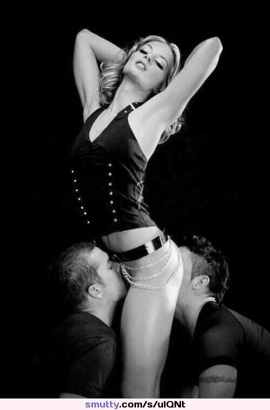 hot sexy blackandwhite photography threesome mfm