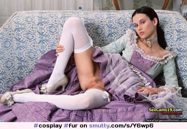 #cosplay #fur #whitestockings #RavenHaired