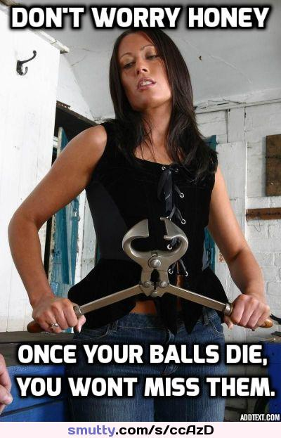 I do not need the eggs, do Me service ampktiruy my #balls! #caption #cuckoldcaption #sissycaption #dominantmistress