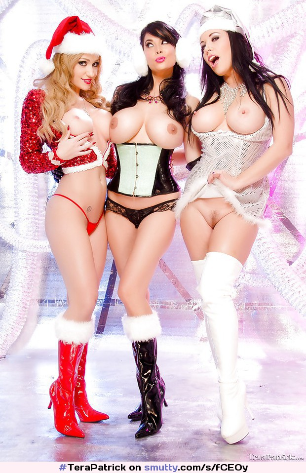#TeraPatrick #AngelaWhite #Anastasia #ThighHighBoots #Boots #WhiteBoots #christmas #x-mas #santa #cosplay #Corset #lingerie #lesbian #hot