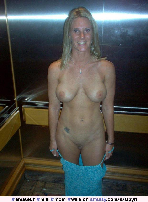 Smiling blonde off her dress in the elevator #amateur #milf #mom #wife #wives #housewife #housewive #nude #mature #cougar #busty #bigtits