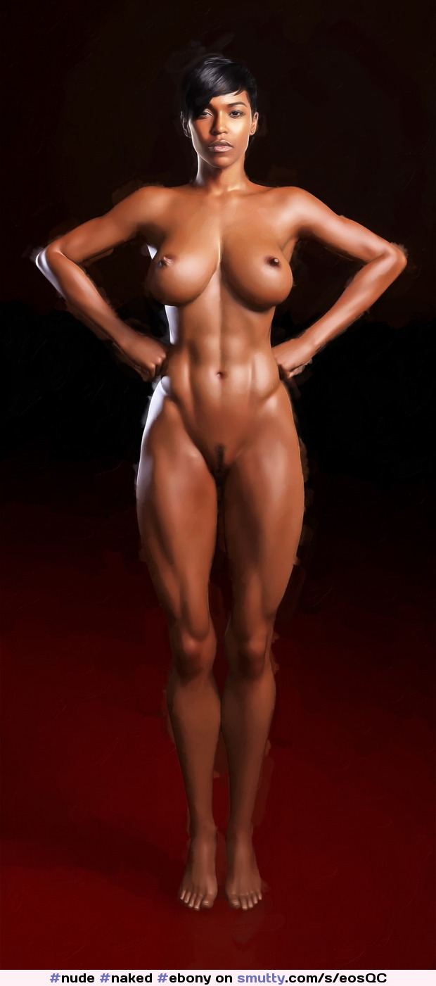 Nude Ebony Fitness Models