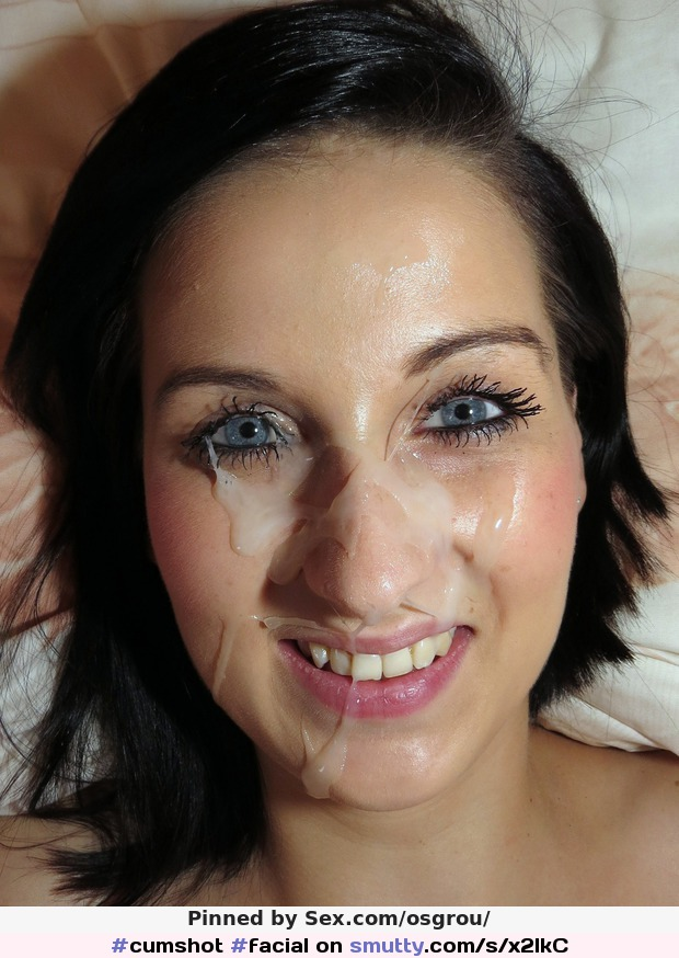 Amazing Green Eyed Brunette Gives Great Blowjob, Double Cumshot
