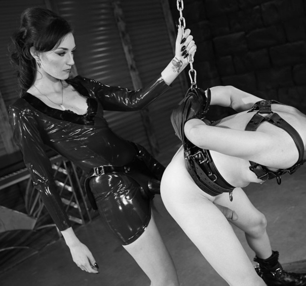 Femdom Harsh Punishment Of Male In Bondage