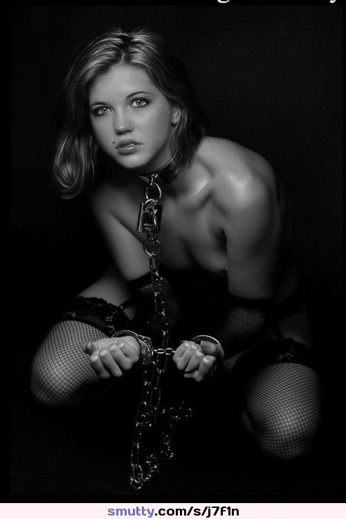 #BlackAndWhite #collar #collared #slave #slavegirl #submissive #submissivegirl #cuffs #cuffed #stockings #fishnetStockings #wristcuffs
