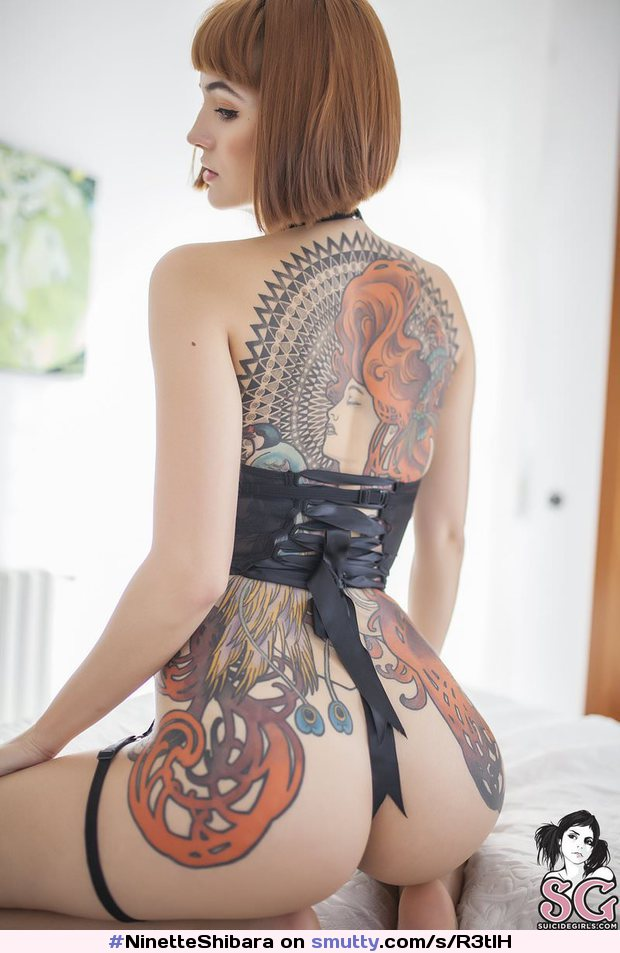 #NinetteShibara #SuicideGirls #tattoo #redhead