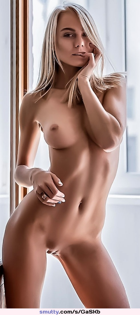 #erotic #beautiful #posing #eyecontact #blonde #naked #curves