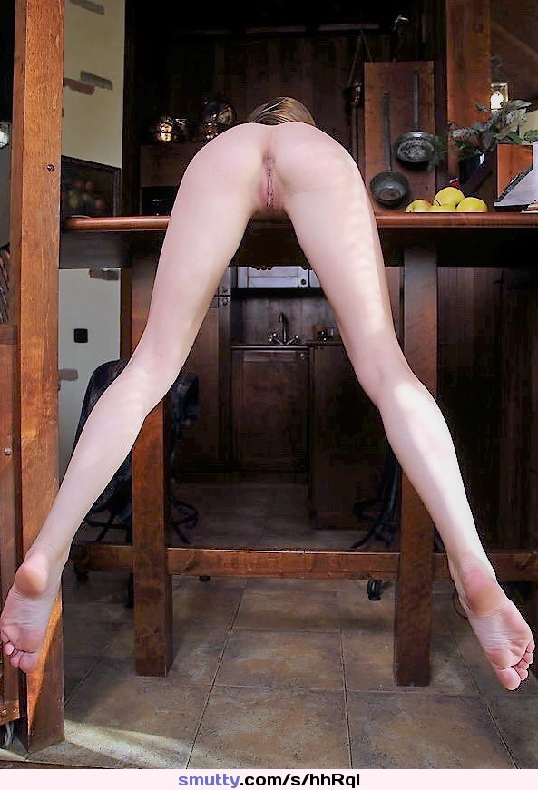 #erotic #beautiful #rearview #longlegs #paleskin #kitchen