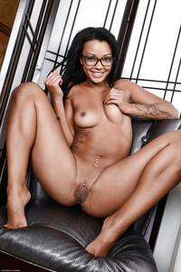 Remarkable, Teen latina with glasses naked visible