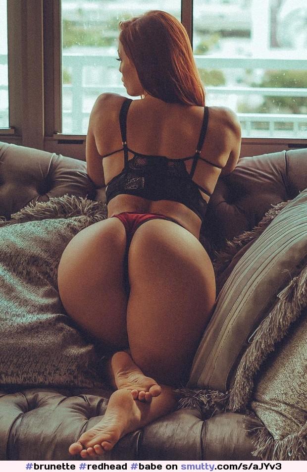 brunette Blonde in panties redhead