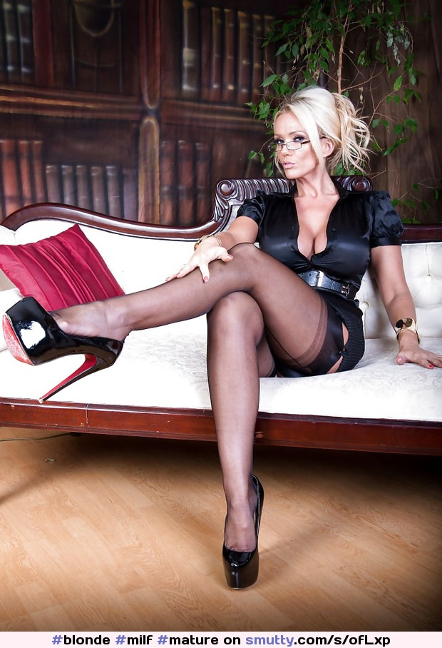 #blonde #milf #mature #cougar #glasses #teacher #secretary #officegirl #cleavage #legs #stockings #heels #pov #mistress #dressed #sexy