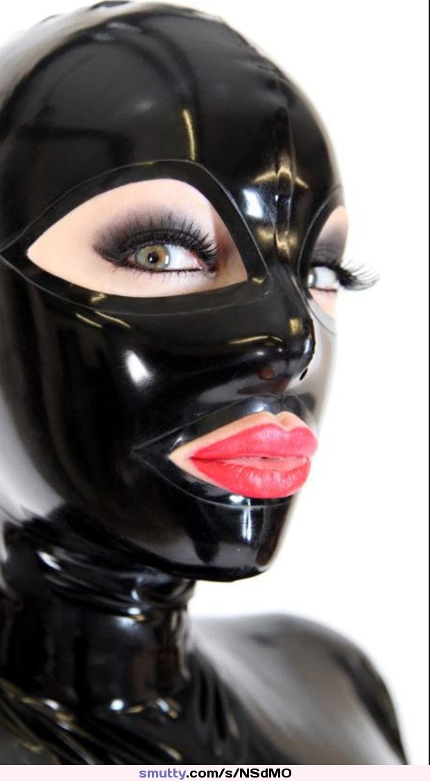 Buy pure latex mask with transparent face latex fetish hoods back zipped