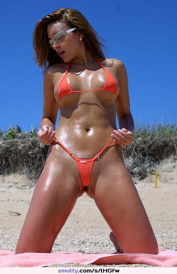Oiled Micro Bikini