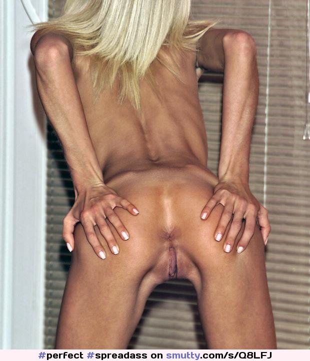 Skinny Blonde Showing Her Slim Bald Pussy
