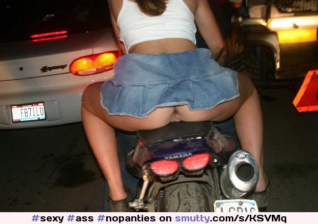 Upskirt On Motorcycle