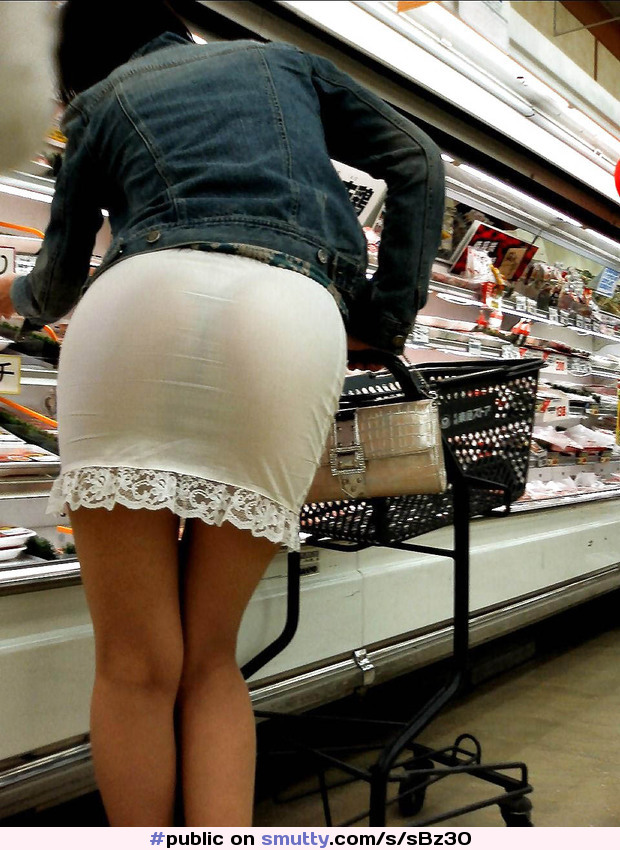#public #seethroughskirt #sexy #ass #Supermarket