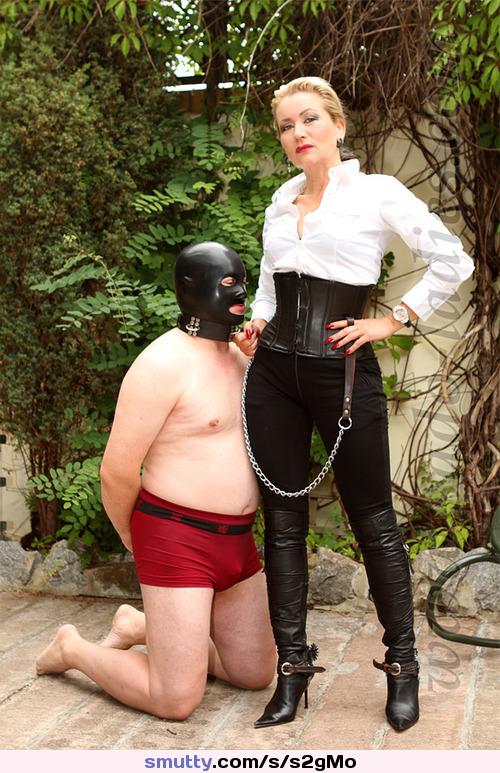 Amateur corset dominatrix granny