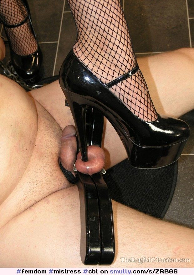 Sexy feet and cock trampling