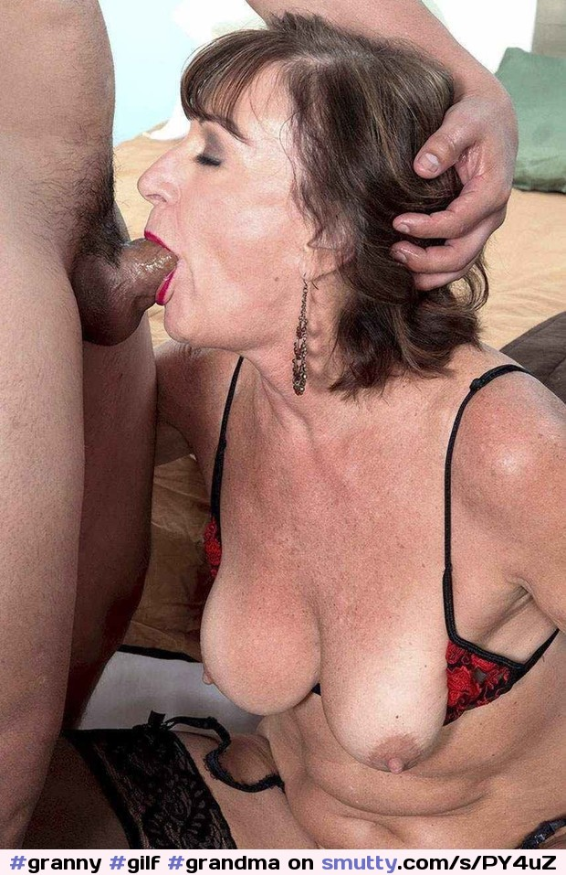 Mature deep throat blowjob