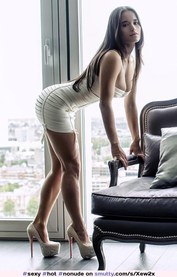 Pretty women s ass tight jeans stock photo