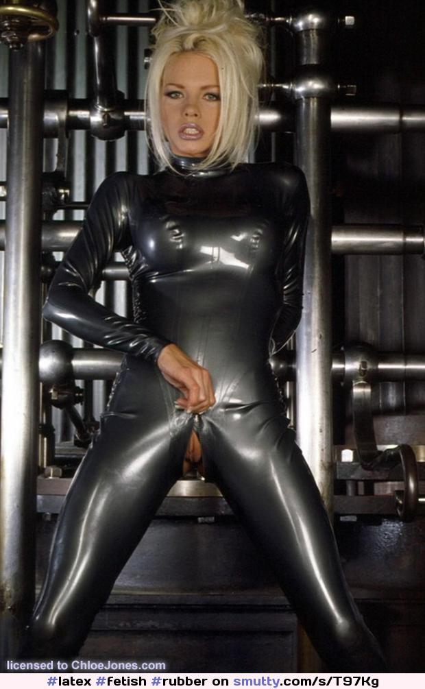 Michelle thorne in slutty black latex catsuit