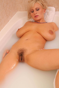 blonde big tits hairy pussy