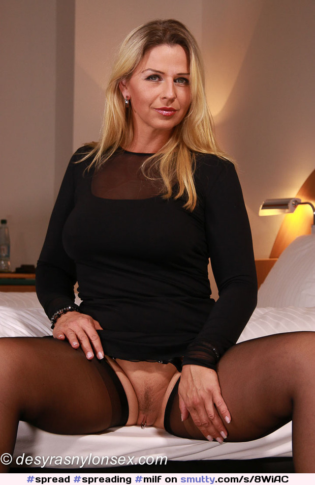 #spread #spreading #milf #blonde #blondemilf #nopanties #pantiesoff #sweater #thighhighs #gorgeous #cougar #mature #sexy #hot #sexymilf #OMG