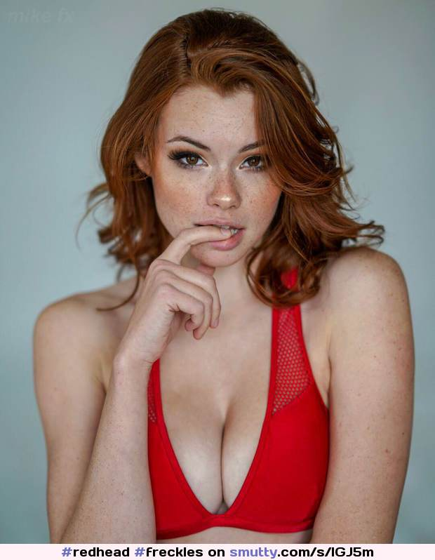 #redhead #freckles #cleavage #lipbite #sultry #sohotithurts #bikinitop #thatlook #ginger #beauty #erotic #beautifulgirl #sexy #hot #gorgeous