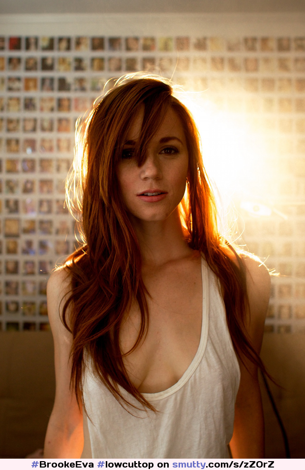 #BrookeEva #lowcuttop #lowcut #ginger #redhead #cleavage #backlit #sopretty #sosexy #sobeautiful #gorgeousbabe #gorgeous #thatlook #stunning