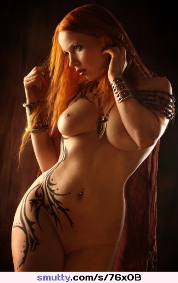 #redhead #tattoos #longhair #nipples #busty #naked #curvy #gladiator #perfect #athletic #glamour #orangehair #bigboobs #boobs #tits