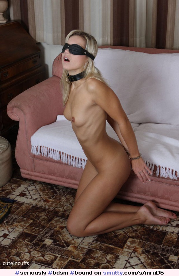 #seriously #bdsm #bound #tied #slave #bondage #beautiful #juicy #tits #handcuffs #tanned #blindfold