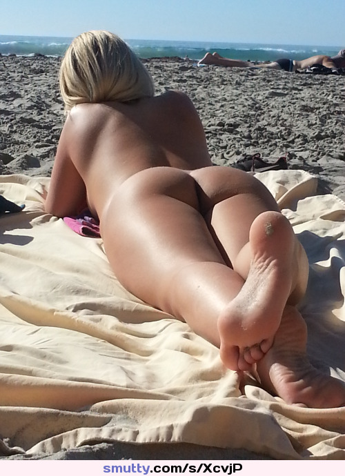 Nudist Beach Blonde Babe Ass Butt Booty Naked Outdoor Amateur Teen Hot Hottie Sexy -4867
