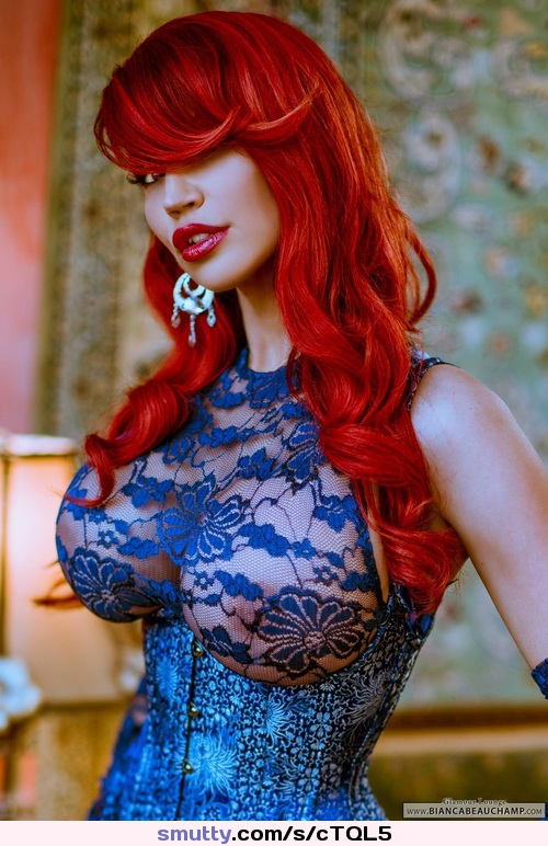 #BiancaBeauchamp#redhead#beauty#redlips#hotmouth#prettymouth#corset#bodacious#hugetits#nicetits#luscious#beautiful#gorgeous#stunning#lovely