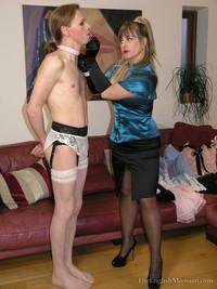 Gutes femdom slave maid sissymen