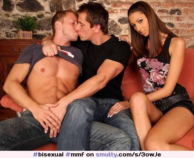 Mmf threesome sex kiss