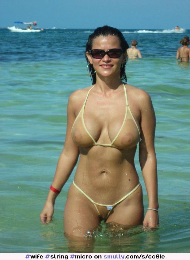 Жена на пляже в бикини частное, порно в фильмах военных